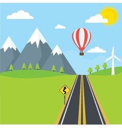 Road and Mountains vector