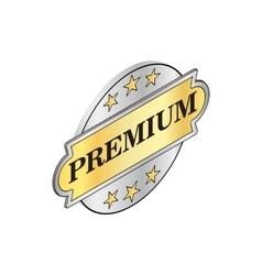 Round label premium icon isometric 3d style vector
