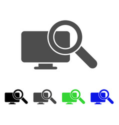 Search computer flat icon vector
