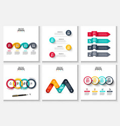 set of abstract elements for infographic vector image