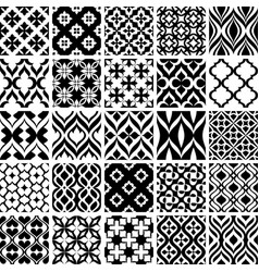 Set of black and white patterns vector