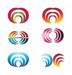 Set of logo design elements suitable for vector