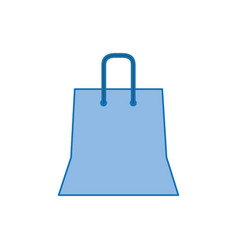 shopping bag plastic fill icon blue vector image