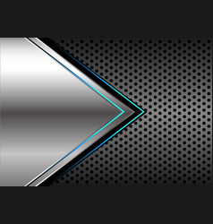 silver blue light arrow circle mesh vector image