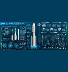 Space launch interface rockets sky-fi hud head vector