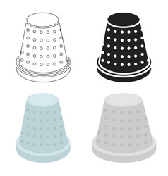 Thimble icon for web and vector