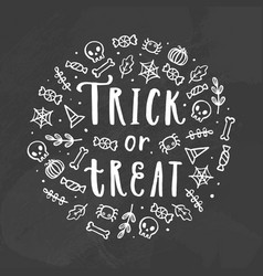 Trick or treat chalk vector