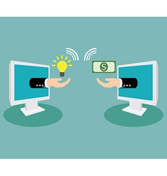Turn ideas into money vector