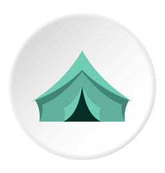 turquoise tent icon circle vector image