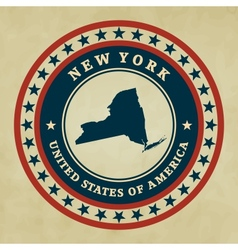 Vintage label New York vector