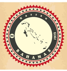 Vintage label-sticker cards of Bahamas vector