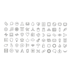 Web line icon set Universal thin icons vector image