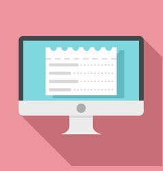 web money receipt icon flat style vector image