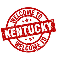 Welcome to kentucky red stamp vector