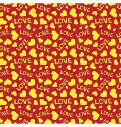 Love heart hand draw vector image