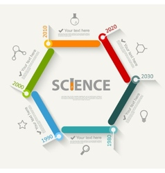 Science infographics vector image vector image