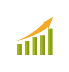 statistic bars growing vector image
