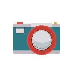 Tech digital camera with flash vector