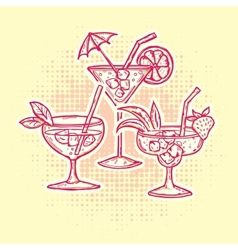 Alcohol Drinks Icons Set vector image vector image
