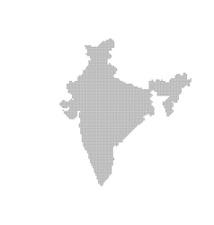 Grey Map India In The Dot vector image