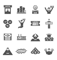 Lottery Icons Set vector image