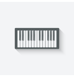 piano music design element vector image