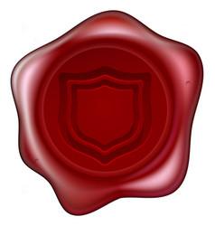 shield wax seal vector image