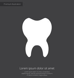 tooth premium icon white on dark background vector image