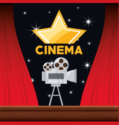 video camera with reel to film scene vector image vector image
