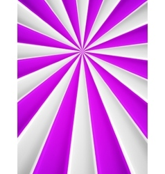 Violet and white abstract rays circle vector image