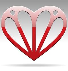 abstract shape heart vector image