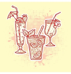 Alcohol drinks icons vector image vector image