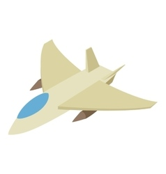 Fighter jet isometric 3d icon vector image