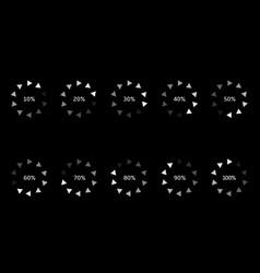 loader progress icons vector image vector image