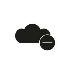 remove from cloud black icon vector image