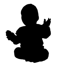 Baby siit on a floor vector image vector image