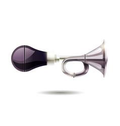 car horn isolated vector image