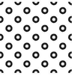 delicious donut dessert pattern vector image