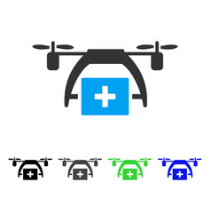 First aid drone flat icon vector