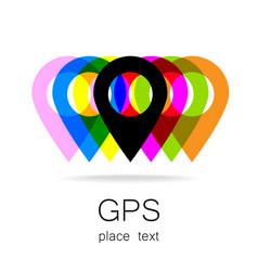 Gps logo vector