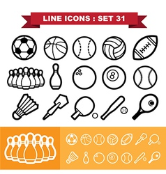 Line icons set 31 vector image vector image
