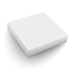 White square box template vector image vector image