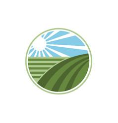 abstract farm vector image