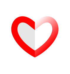 abstract heart red love symbol valentines day vector image