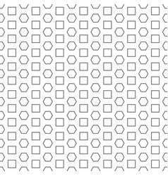 abstract hexagon square pattern white background v vector image