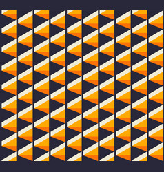 abstract seamless isometric geometric pattern vector image