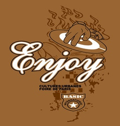 Art design with enjoy vector