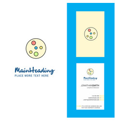 Bacteria plate creative logo and business card vector