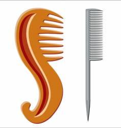 Beauty hairbrush vector