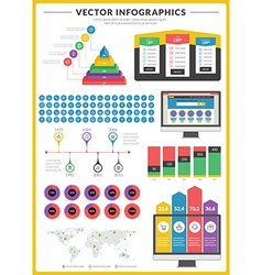 Big pack of data visualization infographics and vector image